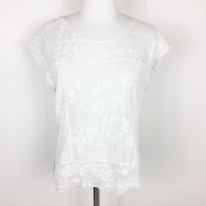 Anthropologie Tiny White Lace Top sz. Small